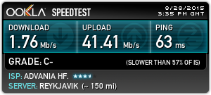 Broadband Speed Test - Single Hop - IS
